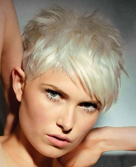 Charming Platinum Pixie Cut