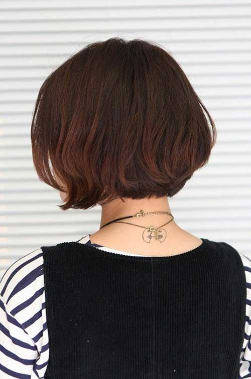 Back View of Asian Short Bob Haircuts