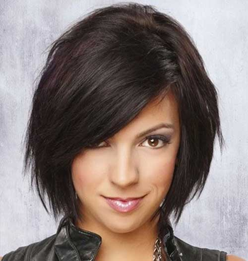 Dark Layered Bob Hairstyles
