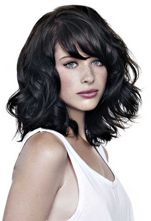 Long Thick Bobs with Bangs