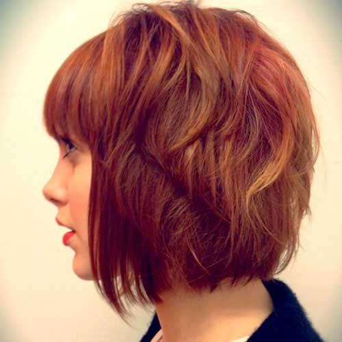 Layered Red Bob Hairstyles Ideas 2018-2018