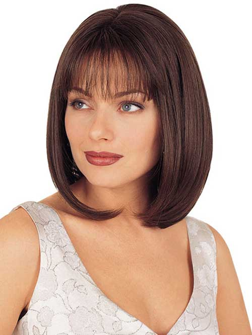 Nice Short Bobs with Bangs for Round Faces 2018