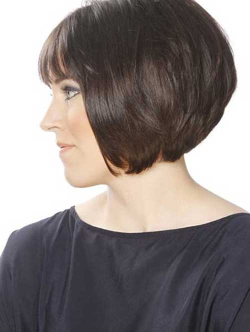 Best Short Bob Haircuts for Round Faces Side View