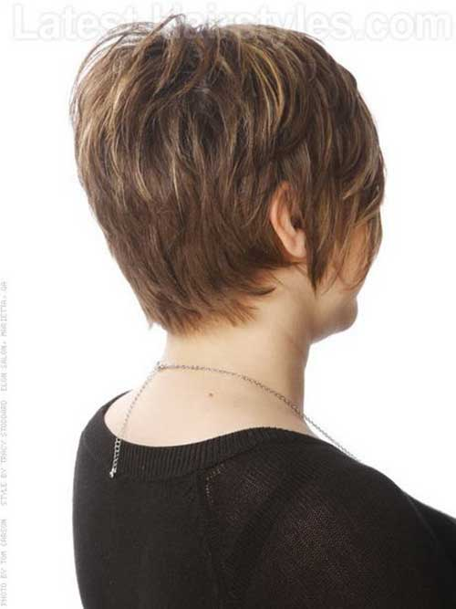 Back Of Straight Pixie Cut