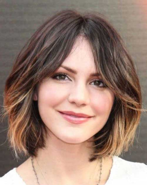 Short Bob for Round Face