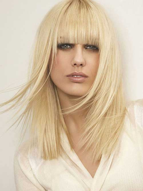 Blunt Long Bob Fringe Hairstyles