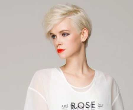 Platinum Blonde Interesting Cut