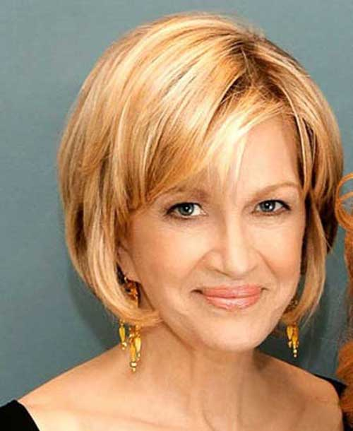 Layered Thin Bob Haircuts Ideas for Older Ladies