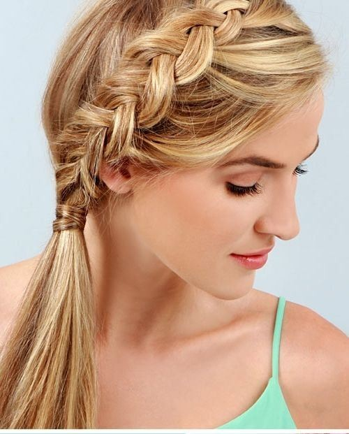 Side Ponytail Hairstyle with Loose Braid