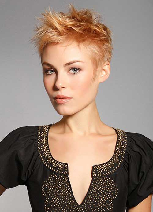 Spiky Short Layered Pixie Haircuts