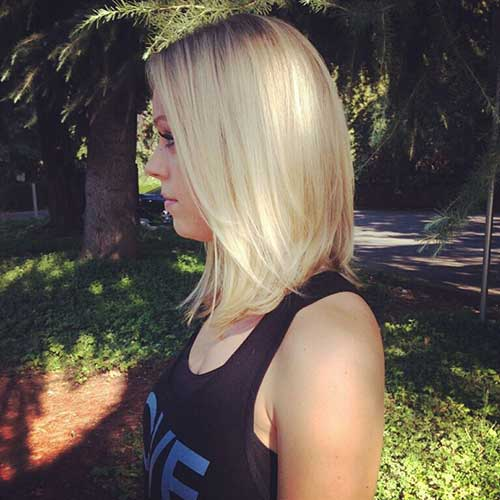 Long Bob Haircut for Round Face
