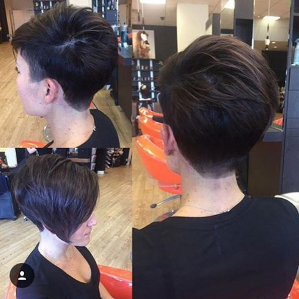 Cool Asymmetrical Taper Fade Bob Cut - Frauen kurze Frisuren 2018