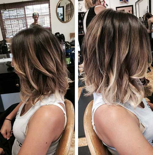 Trendy Bob Haircut Ombre