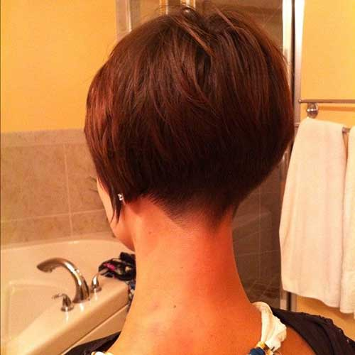 Shaved Inverted Bob Haircut