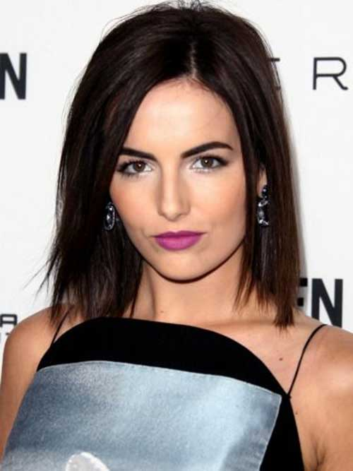 Short Razored Dark Bob
