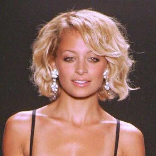 Thick Curly Blonde Bob Haircuts 2018