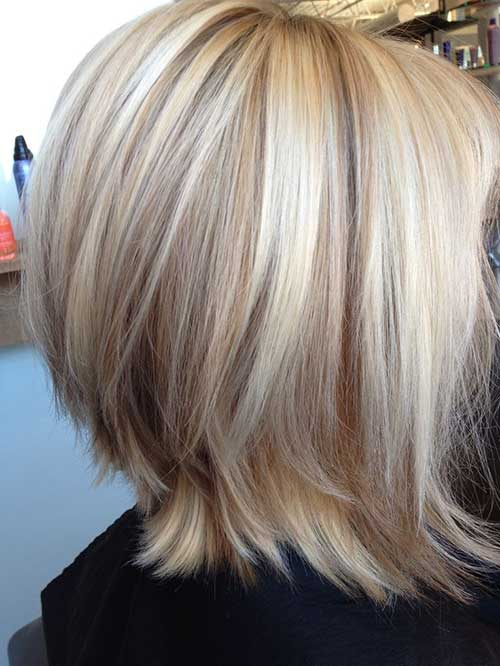 Blonde Lowlights Bob Haircuts for Girls