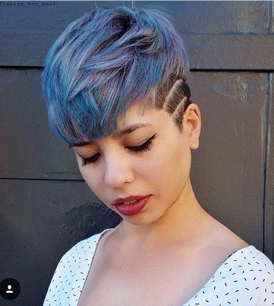Shaved, Pixie Haircuts for Thick Hair - Stylish Hair Color Design
