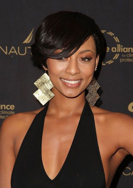 Short Layered Bob Hairstyle For Black Women