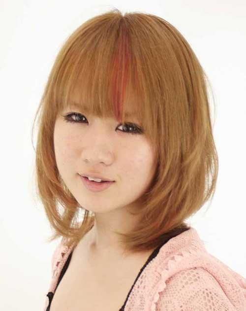 Best Mid Bobs and Bangs for Round Faces 2018