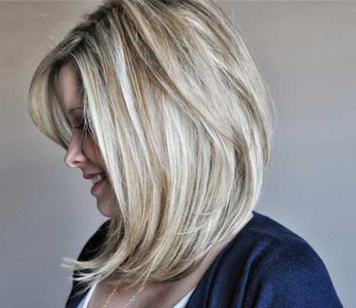Long Angled Blonde Bob Haircut Pictures