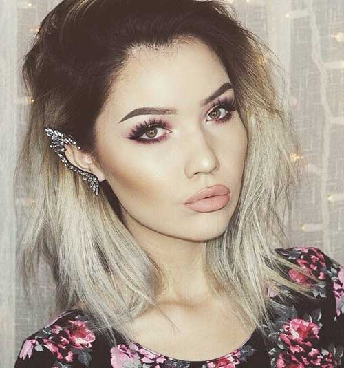 Platinum Blonde Ombre Bob Hairstyles