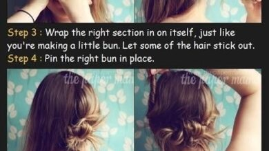 Bild von Long Hairstyles Tutorial for Twisted Bun Updos