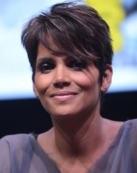 Halle Berry's Choppy Pixie Cut