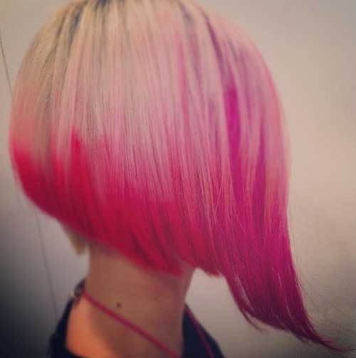 Pink Inverted Bob Hair Cut Idea