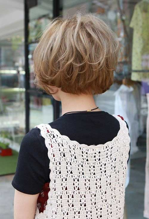 Back View of Layered Short Hairstyles