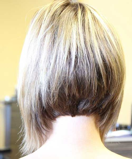 Layered Back of Bob Haircuts