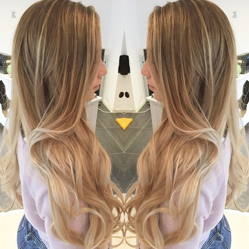 Ultralange Ombre-Locken