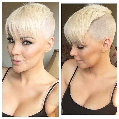 Short Blonde Hair 2018 - 17