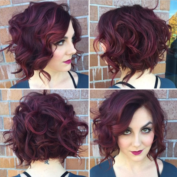 Messy Curly Bob Hairstyle - Stylish Office Hairstyles 2018