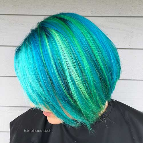 Short Blue Hairstyle - 11
