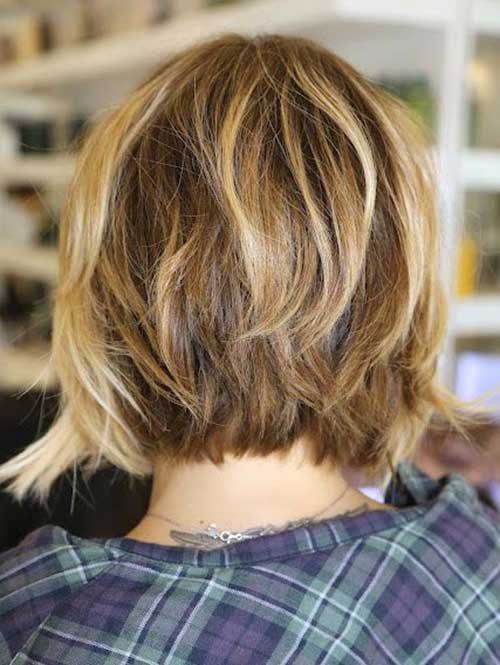 Long Inverted Wavy Bob Haircut