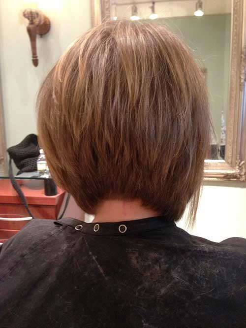 Back View of Inverted Bob