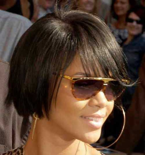 Short Thin Bobs Cuts for Black Women