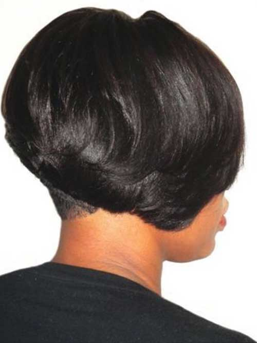 Black Girl Feathered Bob Hairstyles