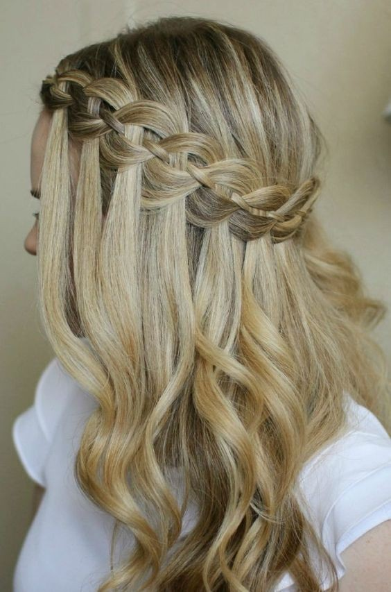 Glamorous Waterfall Braid Frisuren