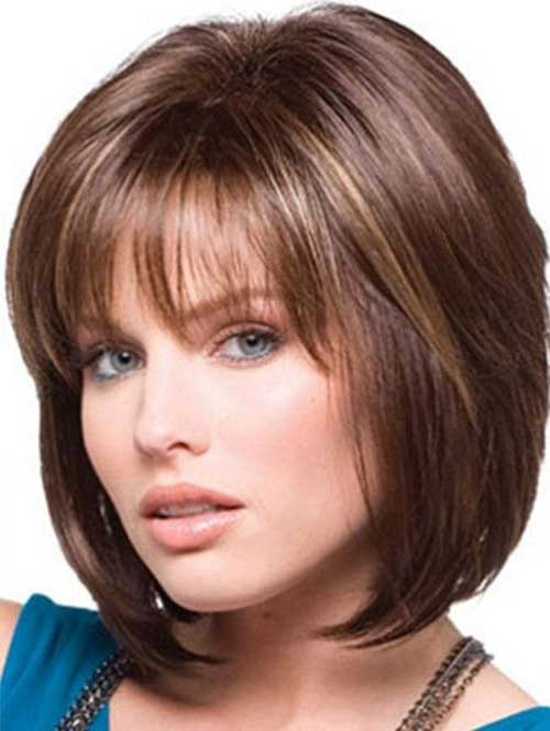 Layered Medium Thin Bob Style with Bangs
