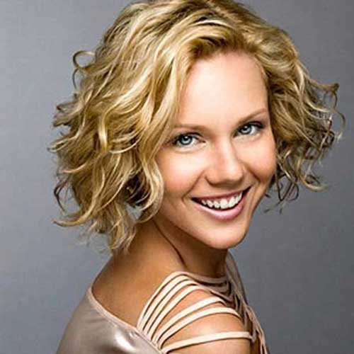 Cute Ladies Curly Bob Hairstyles