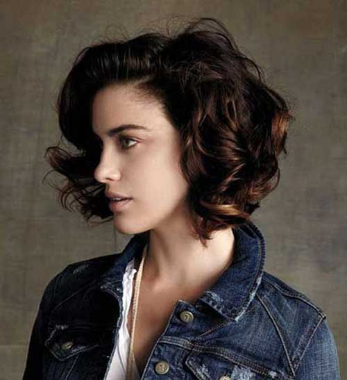 Stylish Curly Short Bob Hairstyles Ideas