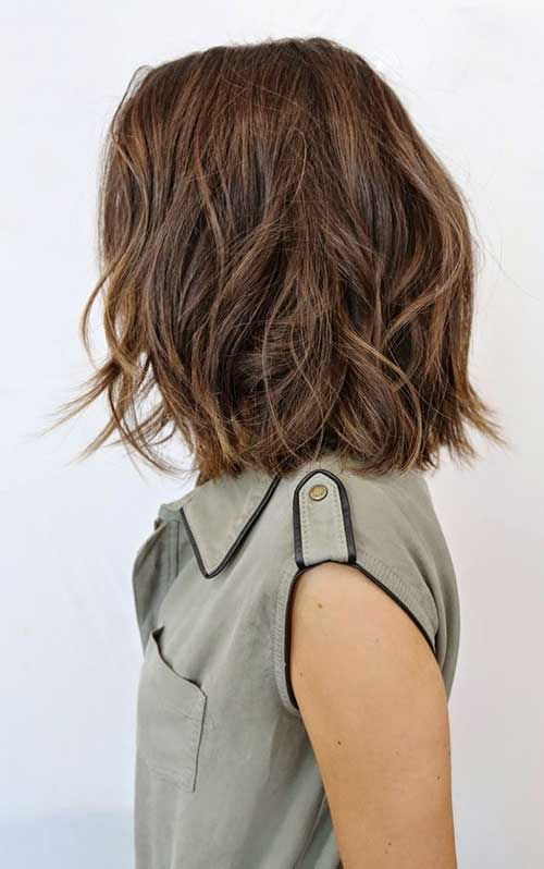 Wavy Brown Bob Hair