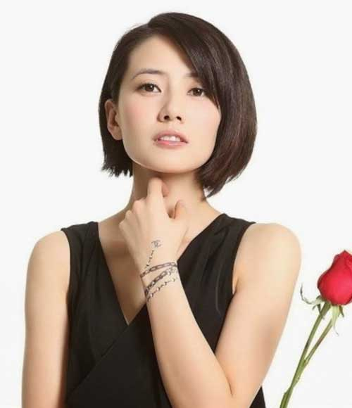 Chinese Dark Bob Hairstyle Ideas Images