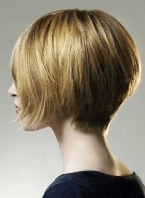 Back View Of Short Graduated Bob Haircuts