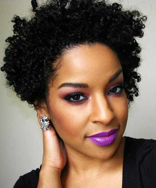 Short Curly Afro Hairstyles-25