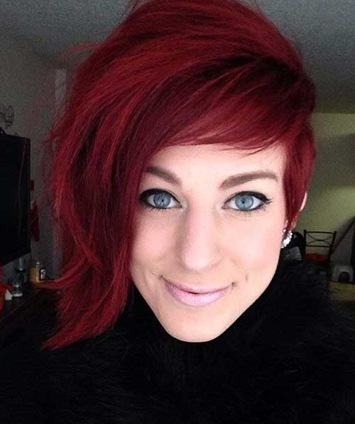 Long Pixie Red Hair