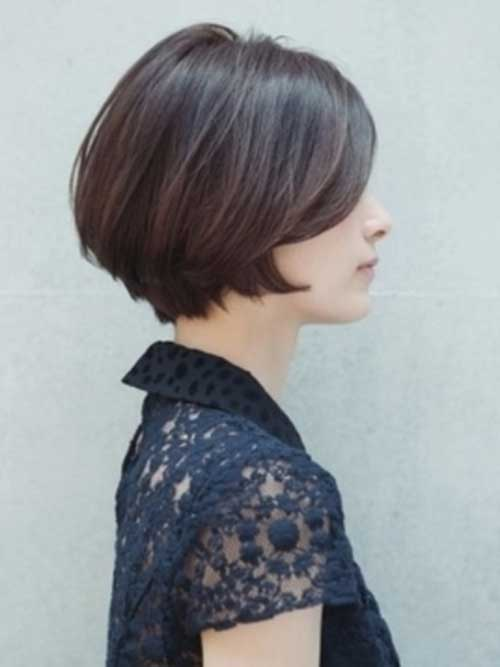 Chic Short Brown Bob Hair