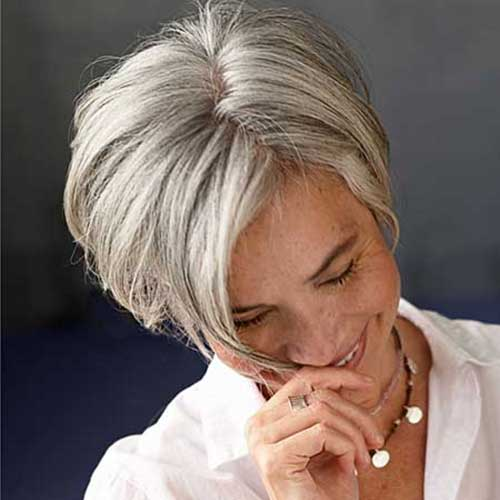 Short Chic Bob Hairstyles for Grey Hair